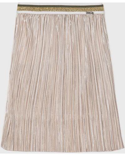 Джинсовая юбка плиссированная из золота Guess Jeans