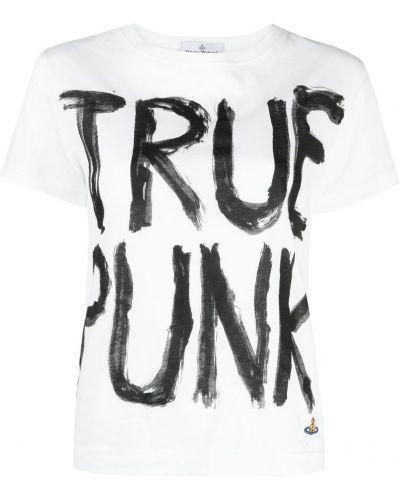 Прямая белая футболка с вышивкой Vivienne Westwood