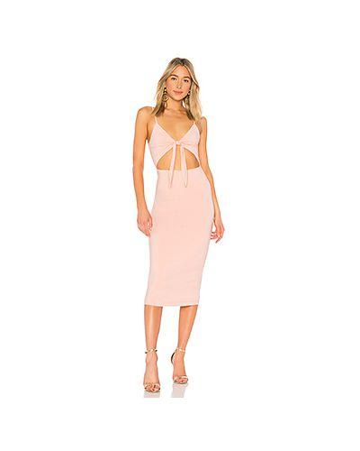 Платье миди розовое на бретелях Lovers + Friends
