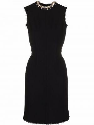 Платье мини короткое - черное Lanvin