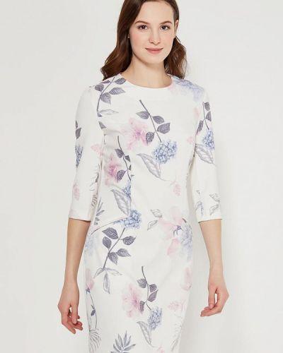 Белое платье с длинными рукавами Zarina