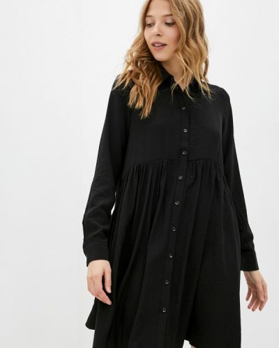 Платье рубашка - черное Zarina