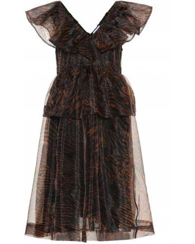Платье из органзы Ganni