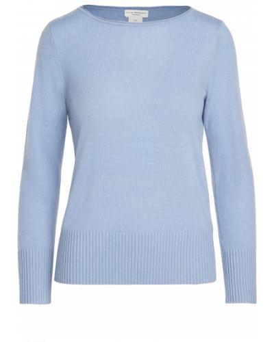 Открытый синий кашемировый длинный свитер Club Monaco