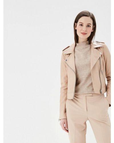 Кожаная куртка весенняя розовая La Reine Blanche