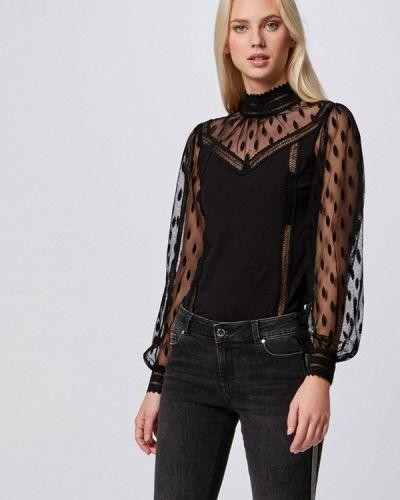 С рукавами черная блузка Morgan