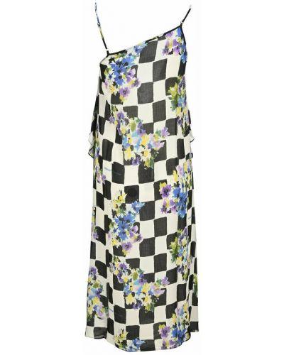 Sukienka midi w kwiaty - biała Off-white