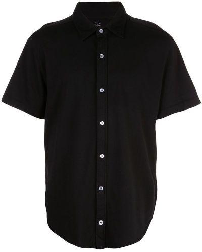 Классическая черная рубашка с короткими рукавами на пуговицах Save Khaki United