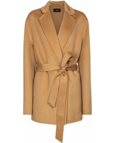 Шерстяная коричневая куртка Joseph