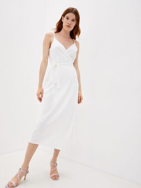 Белое платье с запахом Imocean