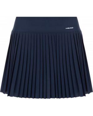 Синяя спортивная плиссированная юбка для сна с поясом Head