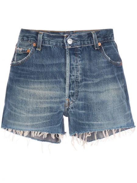 Джинсовые шорты с карманами синий Re/done
