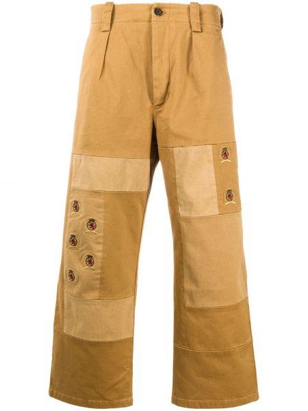 Прямые горчичные прямые брюки с поясом пэчворк Hilfiger Collection