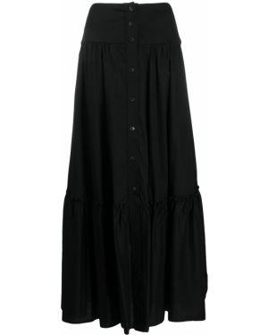 Czarna spódnica maxi rozkloszowana zapinane na guziki So Allure