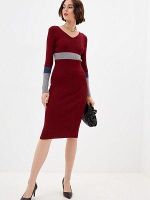 Вязаное платье - бордовое Moki