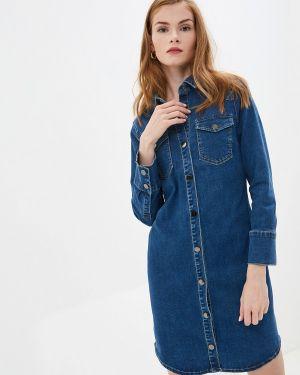 Джинсовое платье осеннее синее Savage