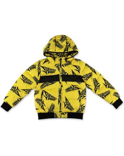 Żółta kurtka z kapturem z nylonu Givenchy