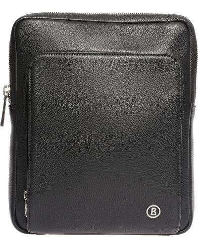 Кожаная сумка на молнии текстильная Bogner