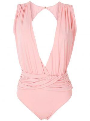 Розовый купальник с V-образным вырезом Brigitte
