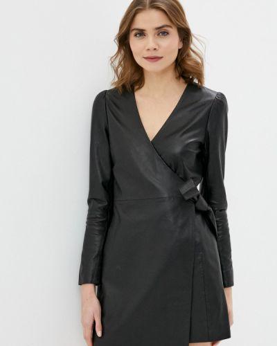 Кожаное черное платье 2nd Day