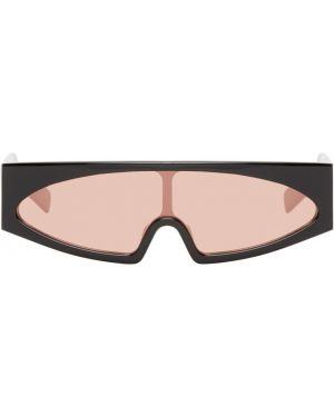 Солнцезащитные очки черные розовый Rick Owens