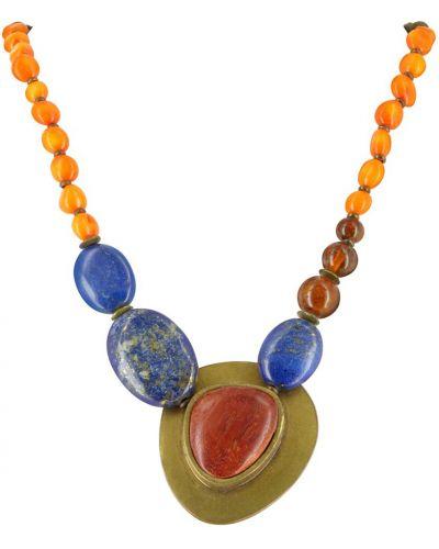 Ожерелье с камнями - коричневое Nature Bijoux