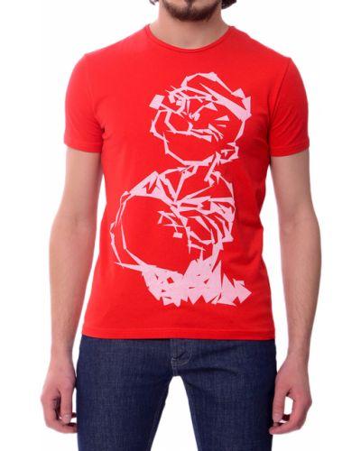 Красная футболка хлопковая Iceberg