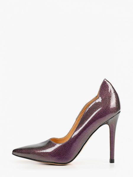 Фиолетовые лаковые кожаные туфли из натуральной кожи Pazolini