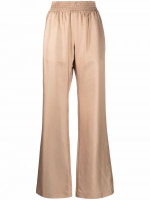 Beżowe spodnie z wysokim stanem Gabriela Hearst
