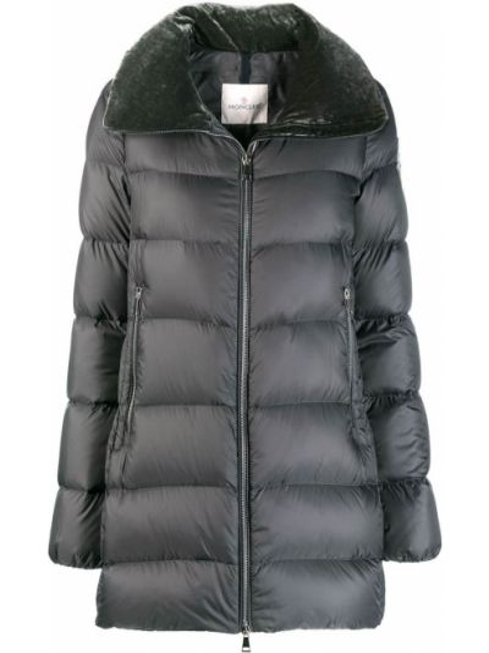 Куртка бархатная с карманами Moncler