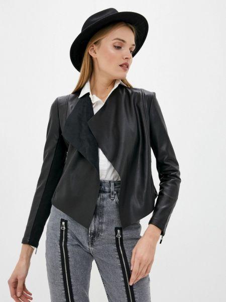 Кожаная куртка черная весенняя French Connection