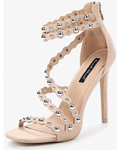 Босоножки на каблуке велюровые Sweet Shoes