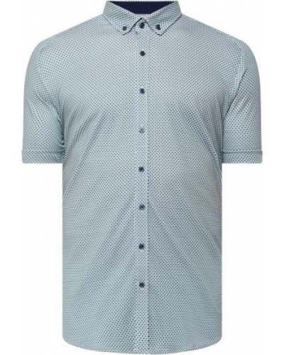 Zielona koszula krótki rękaw bawełniana Desoto