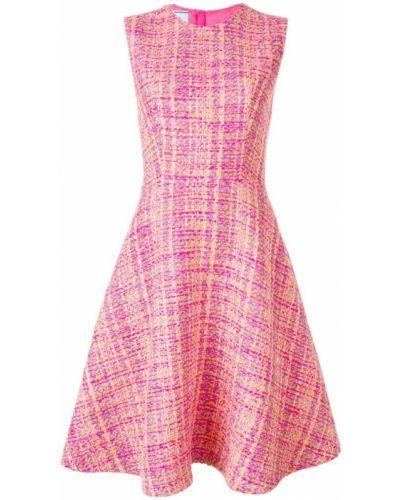 Платье миди розовое на молнии Prada