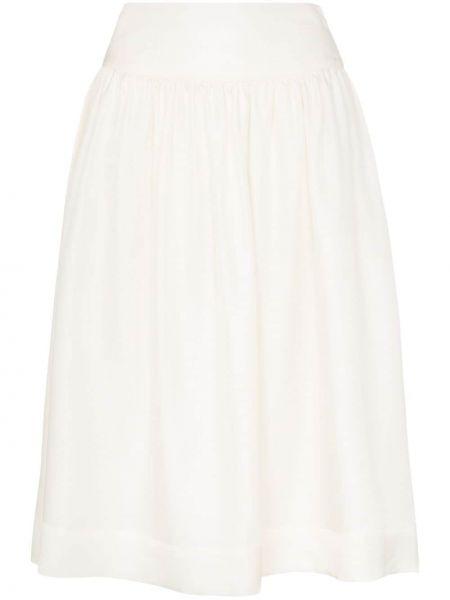 Приталенная расклешенная юбка миди на молнии в рубчик Deitas