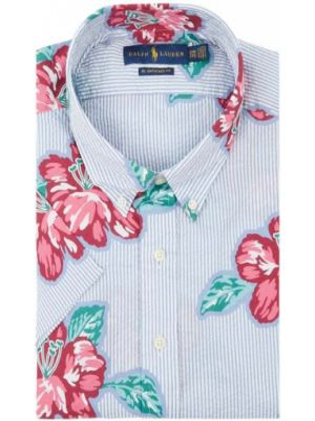 Koszula krótkie z krótkim rękawem z kołnierzem codziennie Polo Ralph Lauren Big & Tall