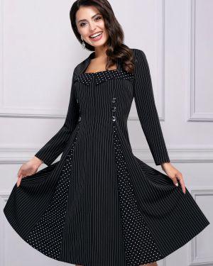 Деловое платье в горошек на молнии Charutti