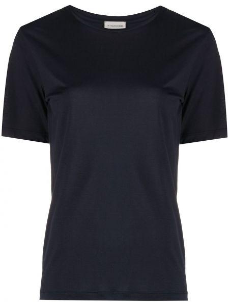 Синяя свободная футболка с круглым вырезом свободного кроя By Malene Birger