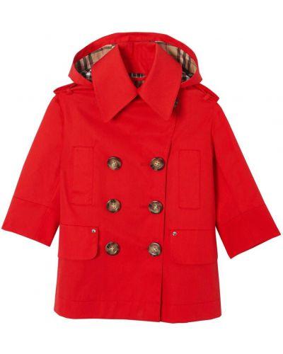 Płaszcz z kapturem z kieszeniami Burberry