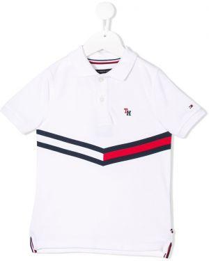 Асимметричная белая рубашка на пуговицах Tommy Hilfiger Junior