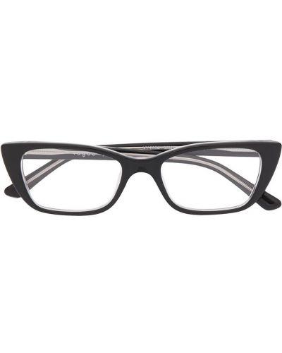 Черные очки кошачий глаз прозрачные Vogue Eyewear