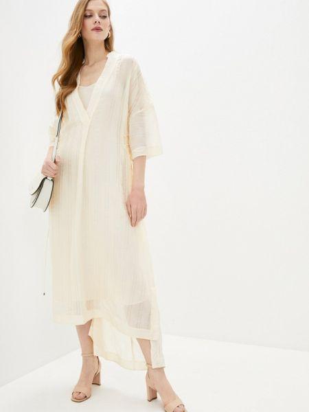 Повседневное платье бежевое весеннее Max&co