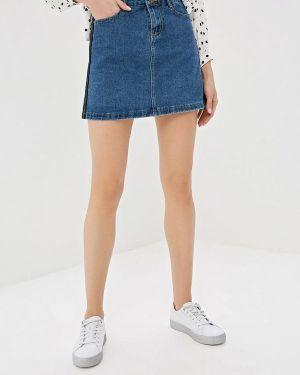 Джинсовая юбка широкая синяя Elardis