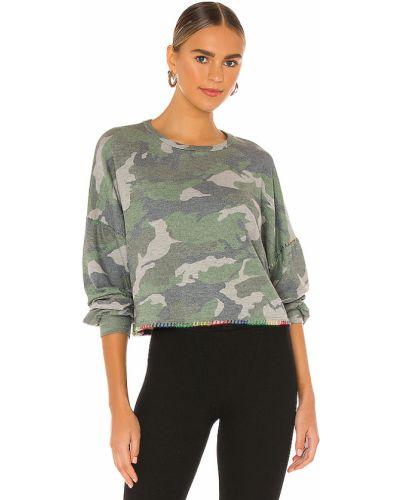 Armia zielony bawełna bawełna pulower Michael Lauren