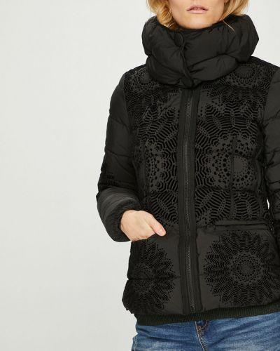 Утепленная куртка укороченная прямая Desigual