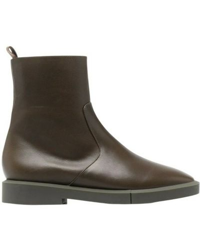 Brązowe ankle boots Clergerie
