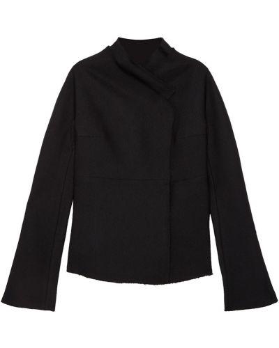 С рукавами черный удлиненный пиджак свободного кроя A.w.a.k.e.