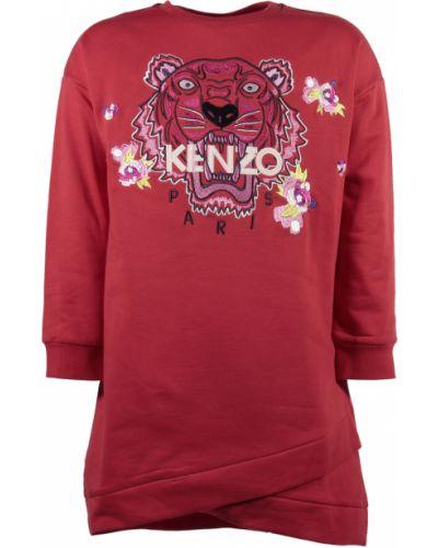 Czerwona sukienka bawełniana Kenzo