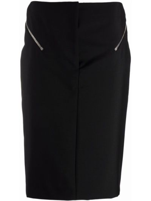 Czarna spódnica ołówkowa wełniana Givenchy