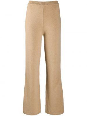 Расклешенные шерстяные вязаные брюки Joseph